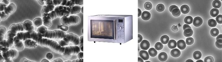 lasering microwaved food